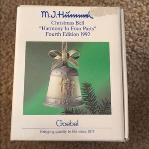 M.J. Hummel Harmony Four Parts Christmas Bell 1992